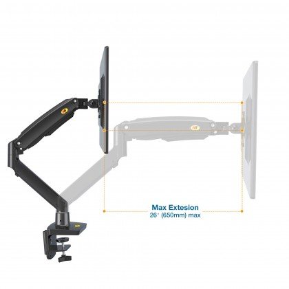 """New Version Up to 12kg NB North Bayou F100A 22"""" to 35"""" Gas Strut TV Monitor Bracket  Monitor Stand Holder Mount Support Load 3-12kg USB 3.0 Ready"""